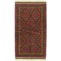 eCarpetGallery Finest Rizbaft Red/Camel Wool Hand-knotted Rug (3'5 x 6'3)
