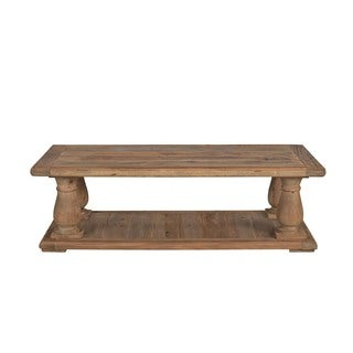 Aurelle Home French Rustic Industrial Coffee Table