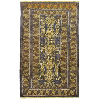 eCarpetGallery Finest Rizbaft Blue Wool Hand-Knotted Rug (3'3 x 6'7)
