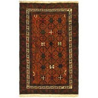 eCarpetGallery Brown Wool Hand-knotted Rug (3'11 x 6'6)