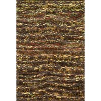 Hand-woven Prince Multi Felted Wool Rug - 5' x 7'6