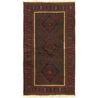 eCarpetGallery Rizbaft Red Wool Hand-knotted Rug - 3'7 x 6'5