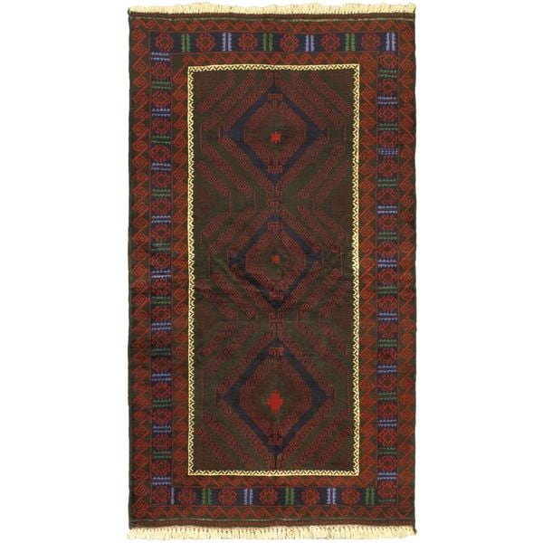 eCarpetGallery Rizbaft Red Wool Hand-knotted Rug (3'7 x 6'5) - 3'7 x 6'5