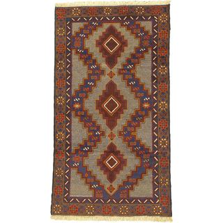 eCarpetGallery Finest Rizbaft Red/Beige Wool Hand-knotted Rug (3'6 x 6'4)