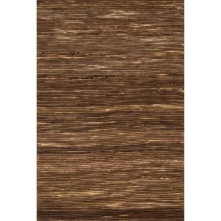 Hand-woven Prince Brown Felted Wool Rug (5'0 x 7'6) - 5' x 7'6""