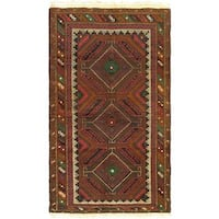 eCarpetGallery Rizbaft Red Wool Hand-knotted Area Rug (3'9 x 5'11)