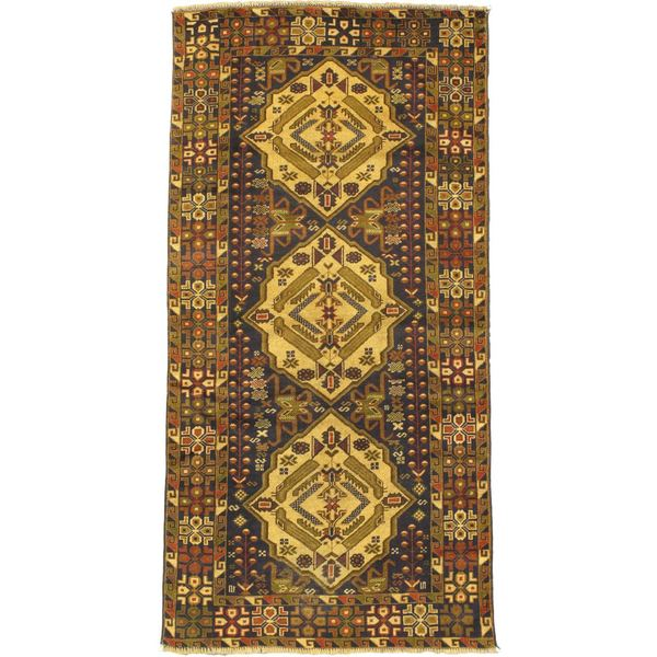 eCarpetGallery Blue Wool Hand-knotted Rug (3' 3 x 6' 7)