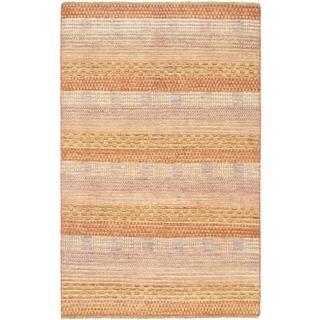 eCarpetGallery Finest Ziegler Chobi Orange/Beige Cotton/Wool Hand-knotted Rug (4'0 x 6'0)