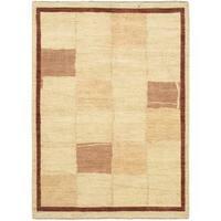 eCarpetGallery Chobi Yellow Wool Hand-knotted Rug (5'7 x 7'7)