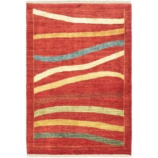 eCarpetGallery Finest Ziegler Chobi Red Wool Hand-Knotted Rug (3'1 x 4'5)