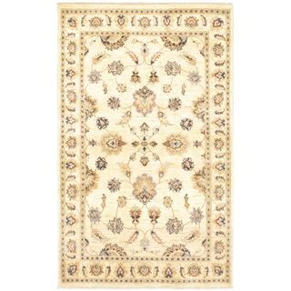 eCarpetGallery Chobi Pink Wool Hand-knotted Twisted Rug (4'6 x 7'3)