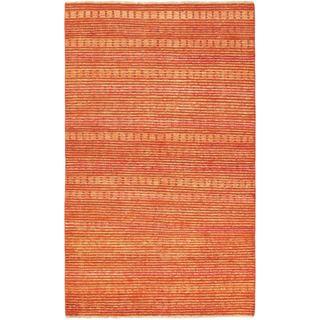 eCarpetGallery Finest Ziegler Chobi Orange Wool Hand-knotted Rug (4' 10 x 8' 0)