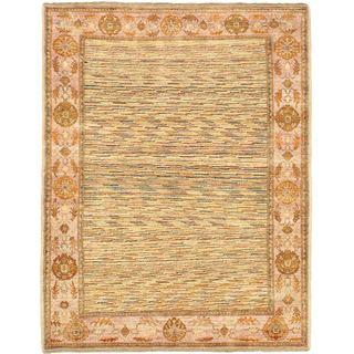 eCarpetGallery Finest Ziegler Chobi Yellow Wool Hand-Knotted Rug (4'10 x 6'3)