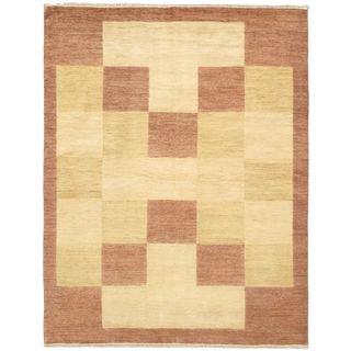 eCarpetGallery Ziegler Pink Wool Hand-knotted Chobi Rug (5'7 x 7'3)