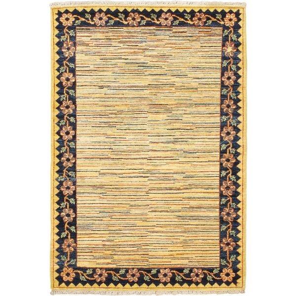 eCarpetGallery Ziegler Chobi Yellow Wool Hand-knotted Rug - 3'5 x 5'0