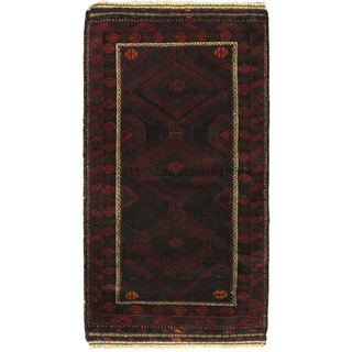 eCarpetGallery Rizbaft Red Wool Hand-knotted Rug (3'4 x 6'0)