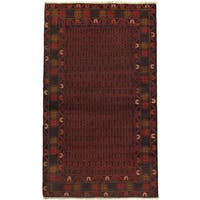 eCarpetGallery Bahor Red Wool Hand-knotted Rug (3'8 x 6'3)