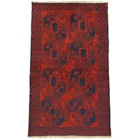 eCarpetGallery Bahor Red Wool Hand-knotted Rug (3' x 6')