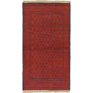 eCarpetGallery Bahor Red Wool Hand-knotted Rug (3'6 x 6'4)