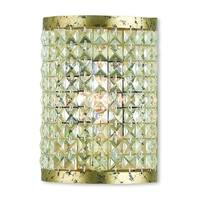 Livex Lighting Grammercy Hand-applied Winter Gold 1-light Crystal Wall Sconce