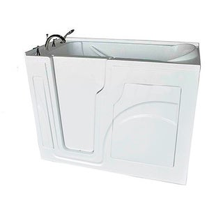 Value Life White Acrylic 53-inch x 28-inch Walk-in Whirlpool Tub
