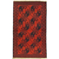 eCarpetGallery Bahor Red Wool Hand-knotted Rug (3' 9 x 6' 5)