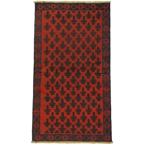 eCarpetGallery Bahor Red Wool Hand-knotted Rug (3'6 x 6'3)