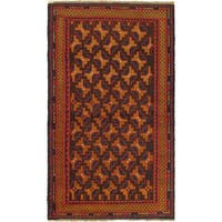 eCarpetGallery Herati Red/Brown Wool Hand-knotted Rug (3'5 x 6'4)