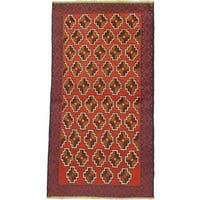 eCarpetGallery Herati Red Wool Hand-knotted Rug (3'5 x 6'4)