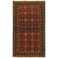 eCarpetGallery Bahor Red Wool Hand-knotted Rug (3'6 x 6'1)