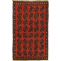 eCarpetGallery Bahor Red Wool Hand-knotted Rug (3'9 x 6'3)