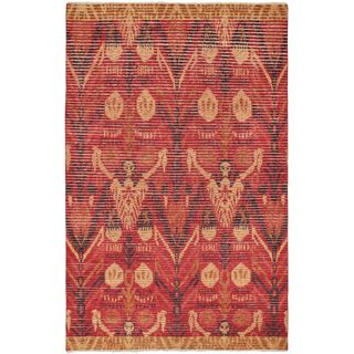 eCarpetGallery Finest Ziegler Chobi Red/Brown Cotton/Wool Hand-knotted Rug (5'10 x 9'2)