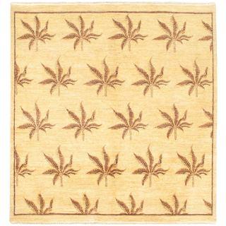 eCarpetGallery Ziegler Yellow Wool Hand-knotted Chobi Rug (6'5 x 6'8)