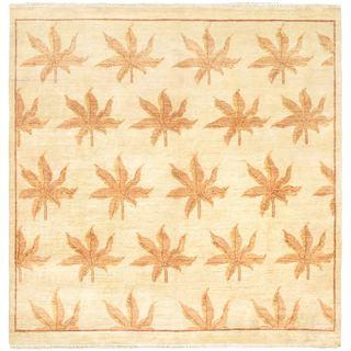 eCarpetGallery Ziegler Yellow Wool Chobi Hand-knotted Rug (6'3 x 6'5)