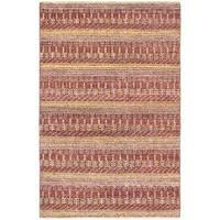 eCarpetGallery Red Wool Hand-knotted Finest Ziegler Chobi Rug (4'1 x 6'2) - 4'1 x 6'2