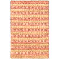 eCarpetGallery Finest Ziegler Chobi Red/Copper Cotton/Wool Hand-knotted Rug (4'1 x 6'2)