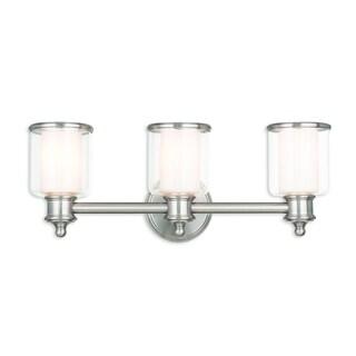 Livex Lighting Middlebush Brushed Nickel Three-light Bath Vanity