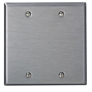 Leviton 003-84025 Two Gang Aluminum Blank Wallplate Cover
