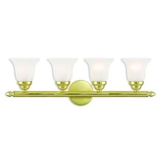 Livex Lighting Neptune Polished Brass Four-light Bath Vanity