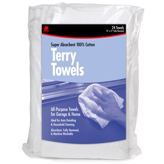 Buffalo 60221 14-inch X 17-inch Terry Towels 24-count