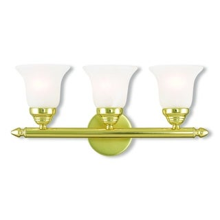 Livex Lighting Neptune Polished Brass 3-light Bath Vanity