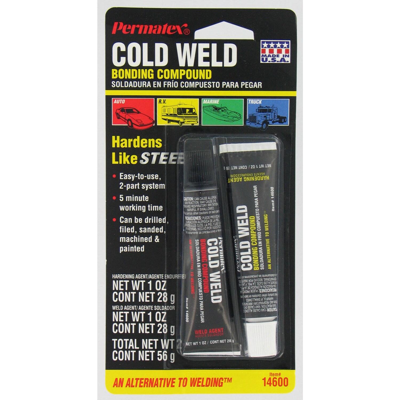 Permatex 14600 2-count 1 Oz Cold Weld Bonding Compound (C...