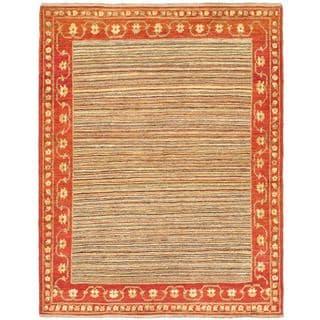 eCarpetGallery Finest Ziegler Chobi Orange Wool Hand-knotted Rug (5'0 x 6'4)