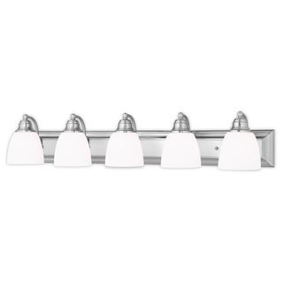 Livex Lighting Springfield Brushed Nickel 5-light Bath Vanity