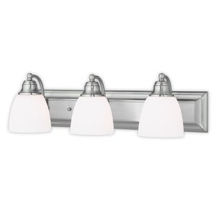 Livex Lighting Springfield Brushed Nickel 3-light Bath Vanity