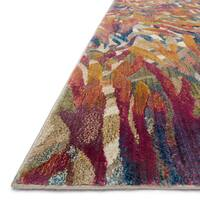 Abstract Gold/ Multi Mid-century Tropical Rug - 9'2 x 13'