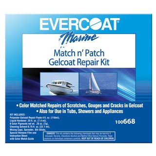 Evercoat 100668 Marine Match N' Patch Gelcoat Repair Kit