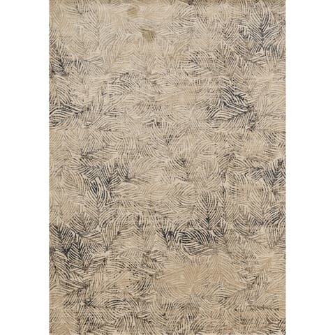 Alexander Home Phaedra Mid-Century Modern Abstract Leaf Rug