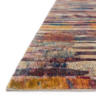 Phaedra Abstract Raspberry/ Multi Rug (9'2 x 13')