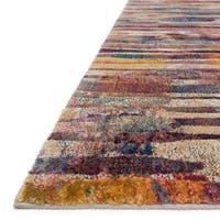 Abstract Fuchsia/ Multi Mid-century Rug - 9'2 x 13'
